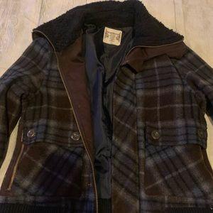 Size small juniors think wool dress coat